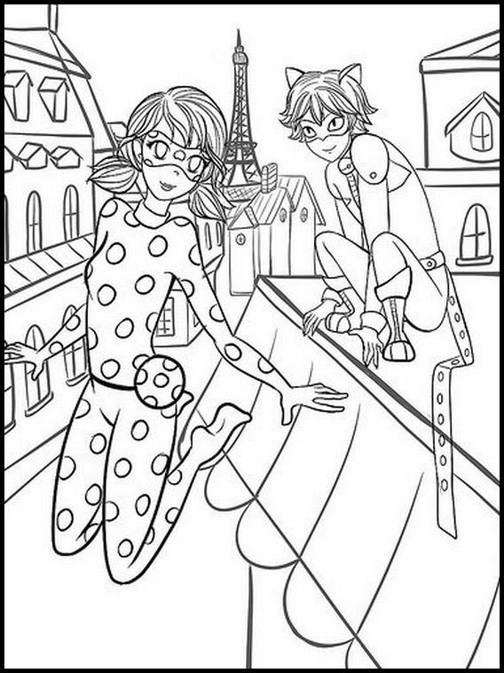 Miraculous Lady Bug Coloring Page