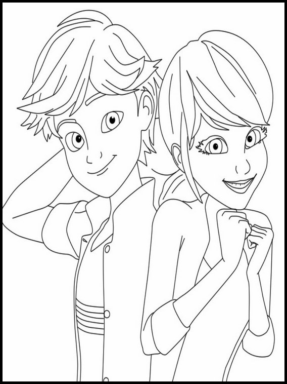Miraculous Ladybug Season  Coloring Pages