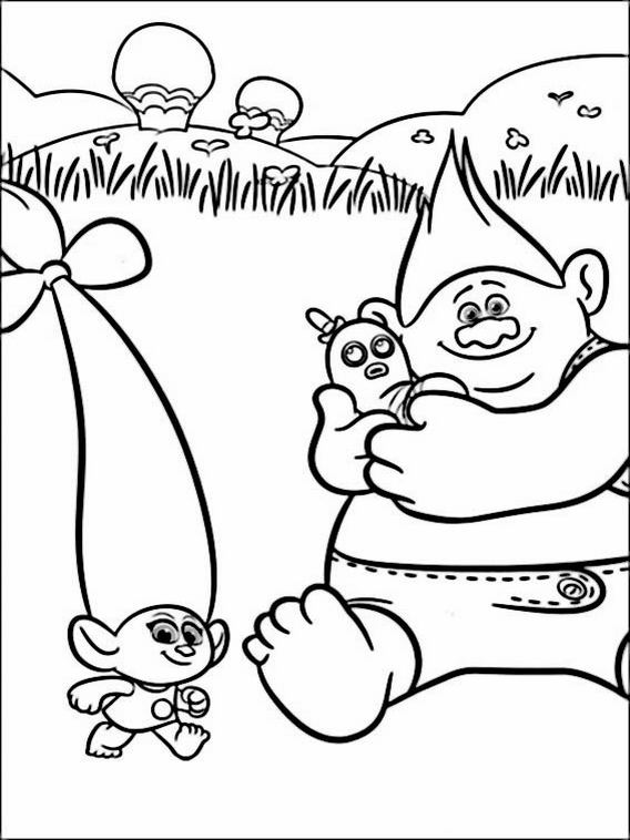 Trolls Pdf Coloring Pages